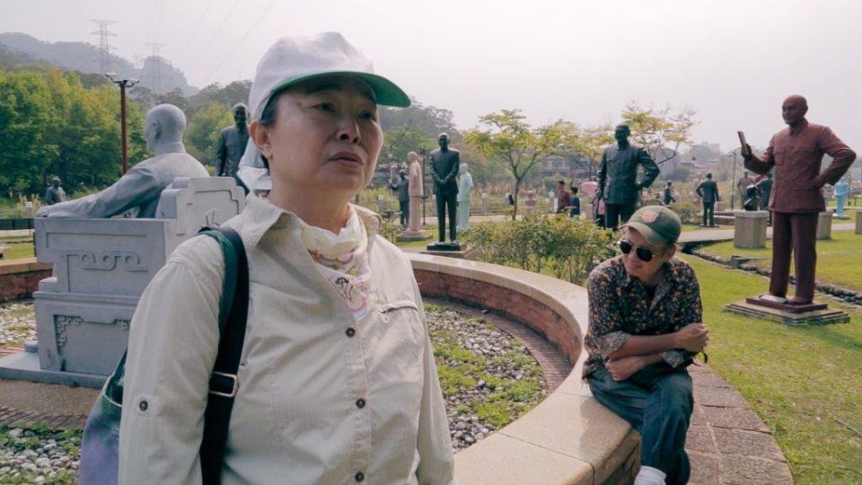 參訪慈湖蔣介石銅像公園的曾心儀。她說那令人毛骨悚然。